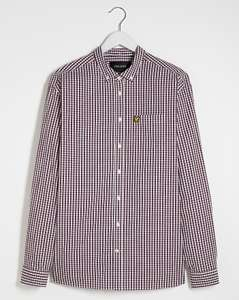 Lyle & Scott Gingham Check Slim Shirt Burgundy/White Now £21.00 Delivered with code From Jacamo