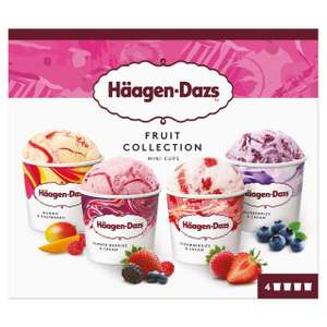 Haagen - Dazs Fruit Collection Ice Cream Mini Cups 4 x 95ml - £3 (+ Delivery Charge / Minimum Spend Applies) at Morrisons