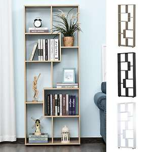 Homcom natural-effect 8-shelf bookcase with melamine coated surface and foot pads for £42.49 delivered using code @ eBay / 2011homcom