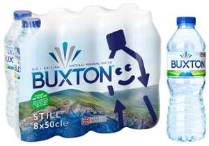 Buxton Still Natural Mineral Water 8x500ml for £1.35 (Min Spend / Delivery Fee Applies) @ Sainsburys