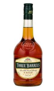 Three Barrels VSOP Brandy 70cl £13.50 (+ Delivery Charge / Minimum Spend Applies) at Asda