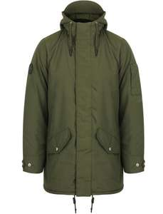 Men's Hooded Parka Coat with Quilted Lining In Khaki £29.99 Delivered using code @ Tokyo Laundry