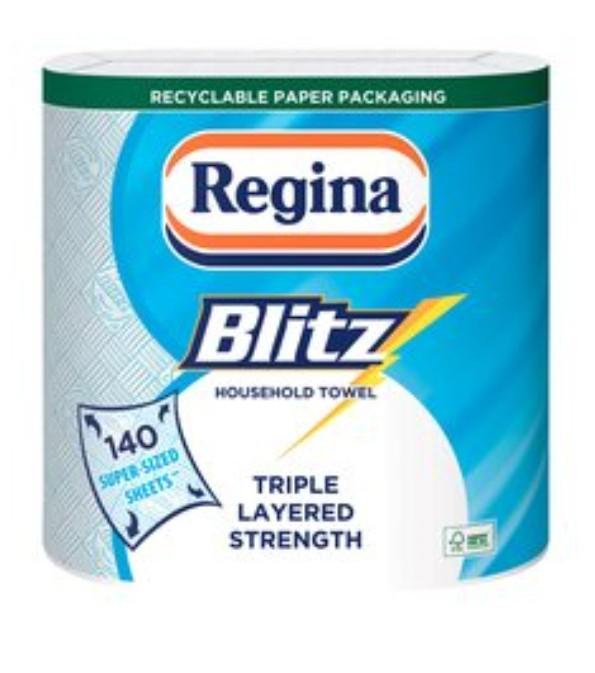Regina Kitchen Towels Blitz 2 Rolls Clubcard price - £2.50 (+ Delivery Charge / Minimum Spend Applies) @ Tesco