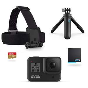 GoPro HERO8 Black Bundle - Including Shorty, Headstrap, Spare Battery & 32GB Micro SD - £299.99 delivered at Amazon