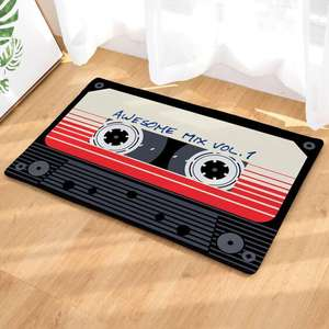 Magnetic Tape Print Floor Mat. £9.98 delivered (See description for stackable codes + free delivery) @ Shein