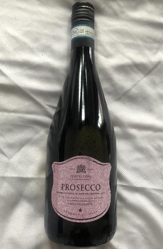 Costellore Prosecco Frizzante 75cl 10.5% ABV £3.99 @ Aldi Catford