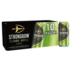 Strongbow Cloudy Apple Cider 10 x 440ml - £4.50 at Sainsbury's in-store (Cornwall)