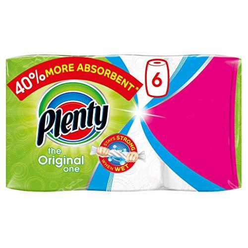 Plenty White Kitchen Roll 6 Pack (600 Sheets) - £6 / (+£4.49 Non Prime) delivered @ Amazon