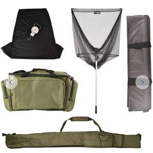 Dunlop Complete Fishing Accessory Kit Now £25 Includes rod holdall, anglers carryall, Net, Weigh scales, Mat - Delivery is £3.95 @ Argos