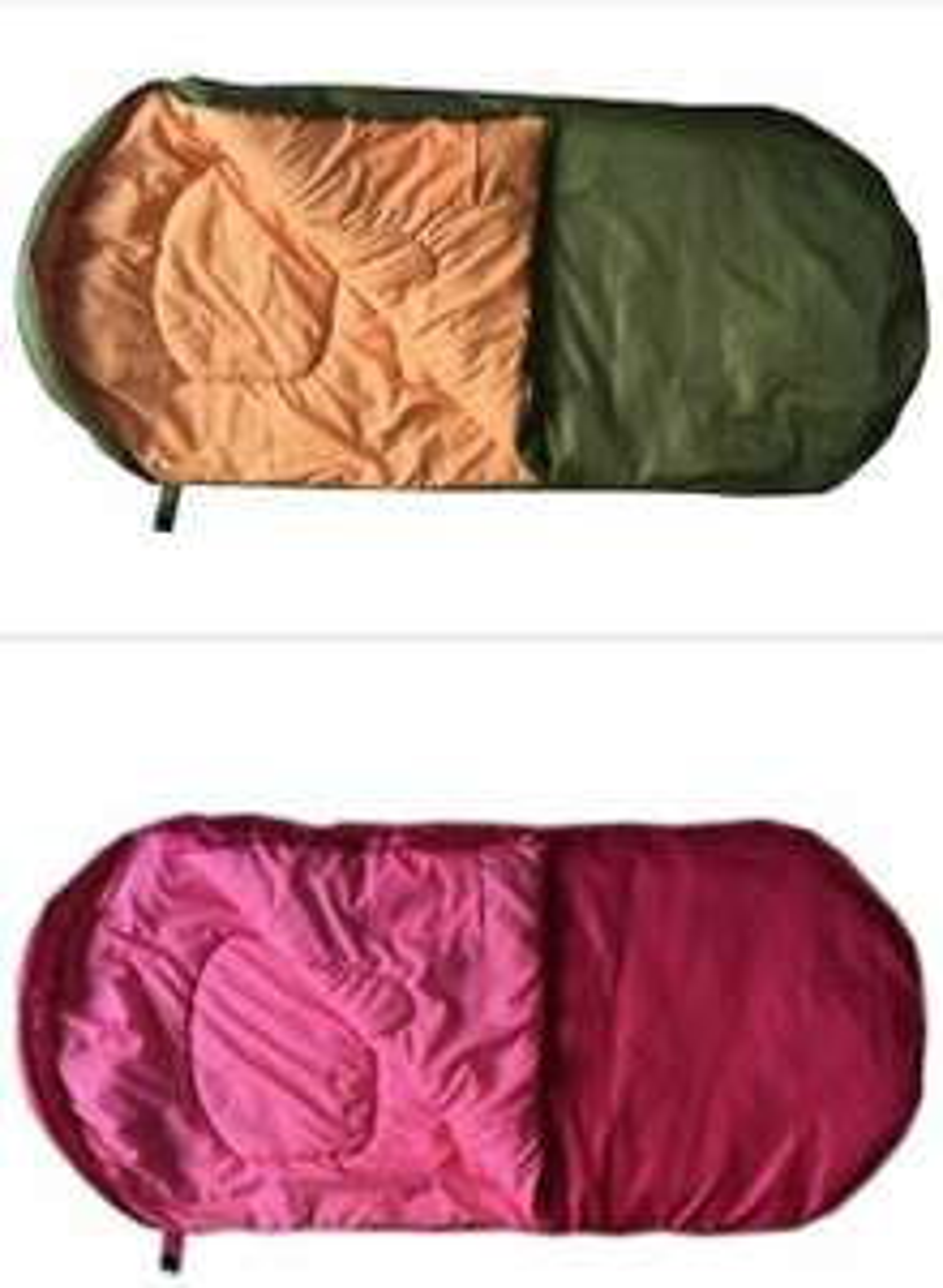 Big Sleep 200GSM Kids Sleeping Bag Green or Pink Now £7.50 Delivery is £3.95 @ Argos
