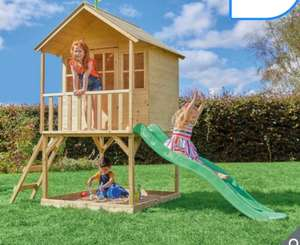 TP Hill Top Wooden Tower Playhouse With Slide (3 -10 Years) @ Costco - £389.89
