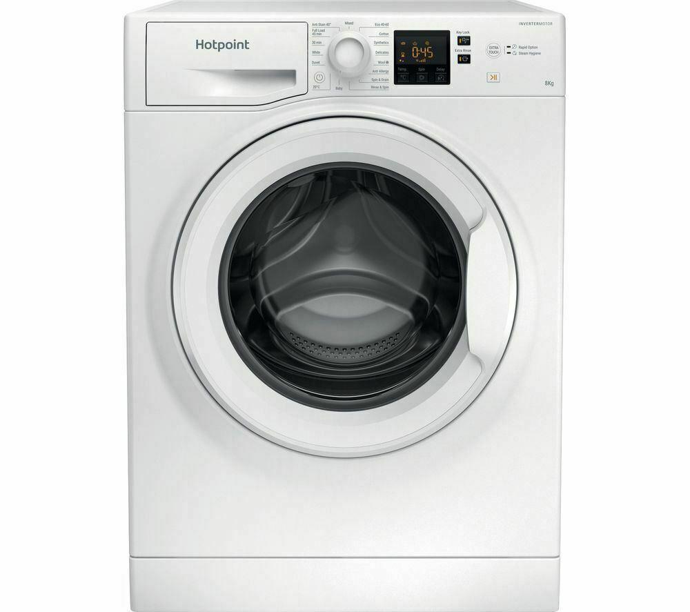 NEW - HOTPOINT Core NSWR 843C WK UK Washing Machine - White - Damaged Box - £148.15 @ Currys Clearance eBay