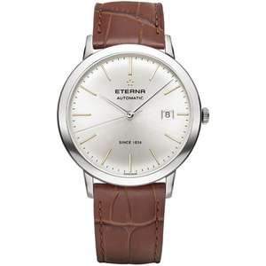 Eterna Eternity Automatic wristwatch with brown leather strap for £474.05 delivered using code @ H. S. Johnson
