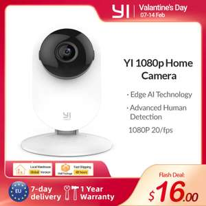 YI 1080p Home Camera Indoor Security Camera (with EU plug) - £14.25 (£10.69 new users with code) delivered @ AliExpress / yi Official Store
