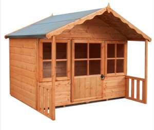 Shire Pixie Children's Playhouse with Glazed windows and half-glazed door - £347.99 @ Robert Dyas