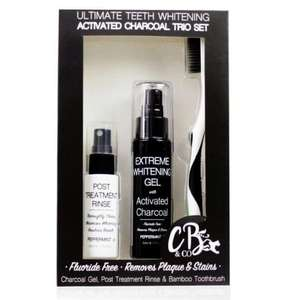 Ultimate Teeth Whitening Activated Charcoal Trio Set now £2.00 + £3.95 delivery @ Cougar Beauty
