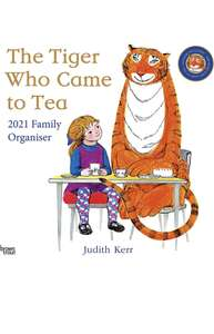 The Tiger Who Came to Tea 2021 Square Wall Family Organiser Calendar (include stickers) £2.74 prime / £7.23 nonPrime at Amazon