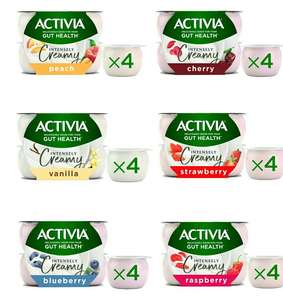 Activia Intensely Creamy Yogurt 4 x 110g (All Flavours) £1 - (+ Delivery Charge / Minimum Spend Applies) @ Morrisons