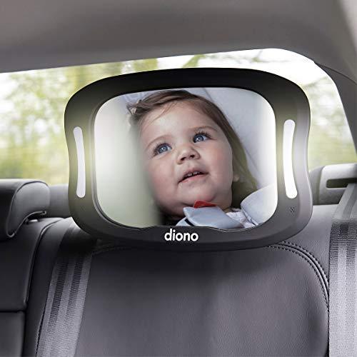 Diono Easy View XXL Mirror with Remote and LED £16.52 (Prime) + £4.49 (non Prime) at Amazon