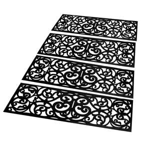 Maison & White Set of 4 Rubber Stair Tread £9.49 + £2.95 delivery at Roov