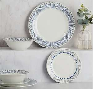 Coastal 12 Piece Dinner Set - £14 + £3.95 Delivery @ Dunelm