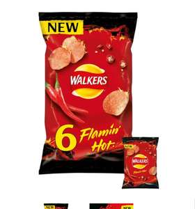 Walkers Flamin Hot Crisps 6X25g £1.25 (+Delivery Charge / Minimum Spend Applies) @ Tesco