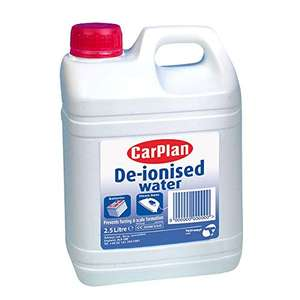 CarPlan De-ionised water 2.5l £1 + £4.49 NP delivered by Amazon