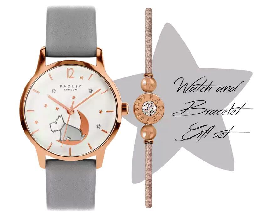 Radley London Star Moon Grey Leather Strap Watch & Bracelet Set £49.99 + delivery @ Argos