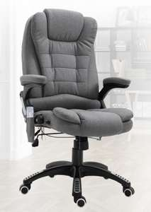 Grey Executive Reclining Office Chair 130°w/6 Heating Massage Points Relaxing Headrest £115.59 with code @ 2011homcom / eBay