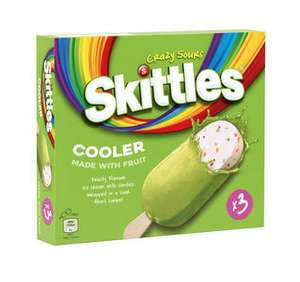 Skittles Cooler Sour Fruity Ice Cream 3 x 100ml £2 (+ Delivery Charges / Minimum Spend Applies) @ Iceland