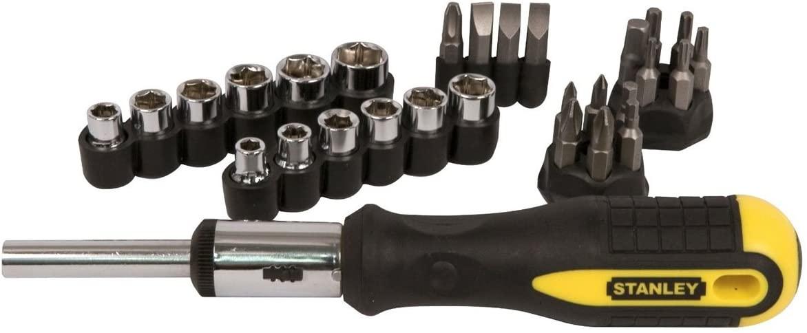 Stanley 054925 Ratchet Screwdriver Set (29-Pieces) - £3 prime / +£4.49 non prime @ Amazon
