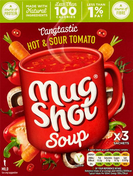 Mug Shot Packet Soup - Mushroom \ Chicken \ Vegetable \ Broccoli, Now 50p ( Min Basket \ Delivery applies ) @ Asda