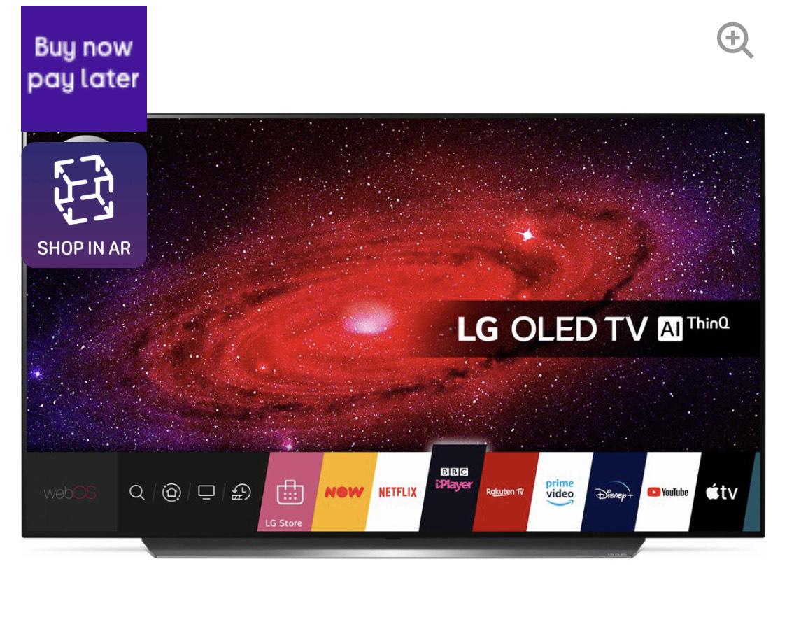 "LG OLED65CX6LA 65"" Smart 4K Ultra HD HDR OLED TV £1899 at Currys PC World (Possible 6% TopCashback)"