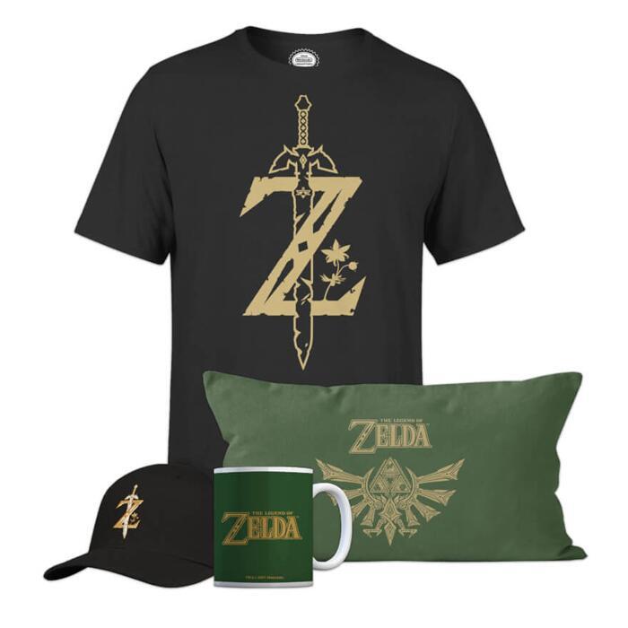 Nintendo The Legend Of Zelda Ultimate Bundle - 100% Cotton T-Shirt, Cushion, Mug & Cap - £26.98 Delivered Using Code @ Zavvi