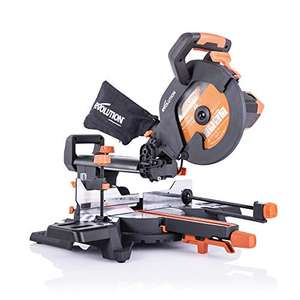 Evolution Power Tools R255SMS+ Compound Saw with Multi-Material Cutting 45°Bevel, 300mm Slide, 2000W, 255mm, 220-240V £164.14 at Amazon