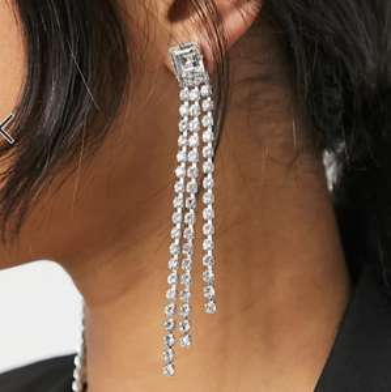 Krystal London Swarovski Crystal Opposite Shower Earrings £18 + £4 delivery at ASOS
