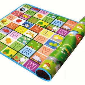 Foam double-sided large playmat (2m x 1.8m) for £8.95 delivered @ only5pounds