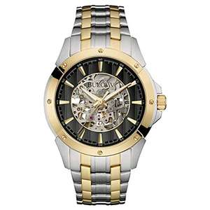 Bulova Men's Automatic Mechanical Watch with Stainless Steel Strap 98A146 - £112.95 sold by Amazon