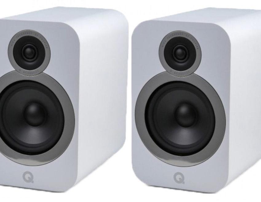 Q Acoustics 3030i Bookshelf Speakers - Arctic White - open box with warranty £259 Peter Tyson Audio Visual