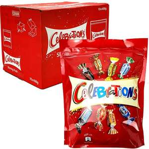 Celebrations chocolate 10 boxes x 400g each (total 4kg) for £25 delivered at Yankee Bundles Best by 25 Apr 21