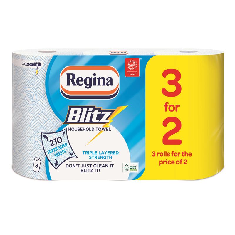 Regina Blitz 6 kitchen rolls for £6 QD stores (Stowmarket)