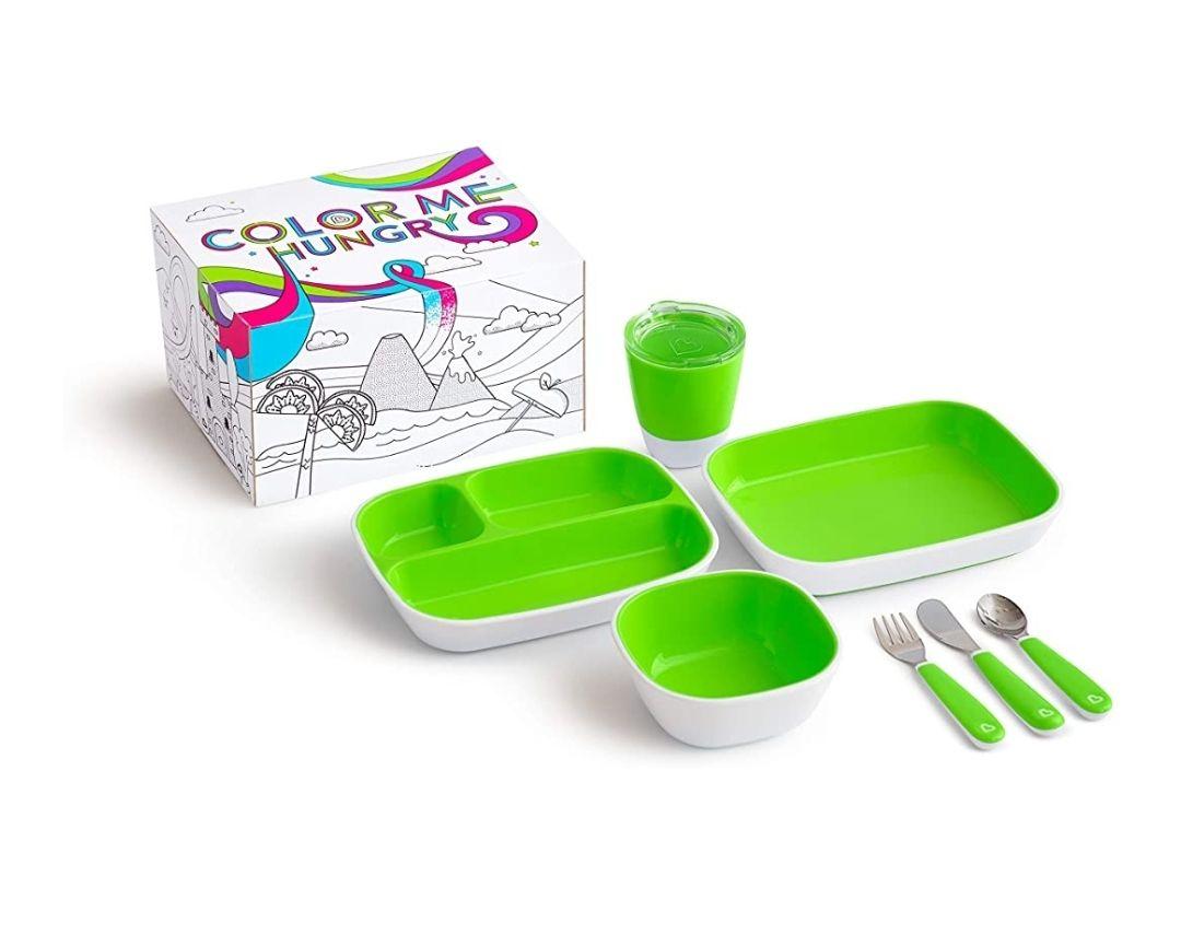 Munchkin 7 piece toddler dining set now £17.00 (+£4.49 non-prime) @ Amazon