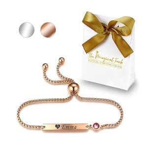 Personalised Birthstone Bracelet £10.99 - Dispatched from and sold by Groupello UK
