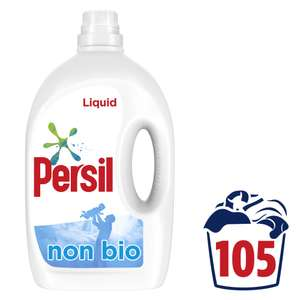 Persil Non Bio Laundry Washing Liquid Detergent 105 Wash 2.835L £9.99, (£3.49 delivery) at Home Bargains