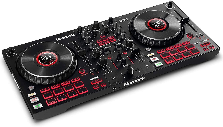 Numark Mixtrack Platinum FX – DJ Controller For Serato DJ with 4 Deck Control, DJ Mixer, Built-in Audio Interface, FX Paddles £181 @ Amazon