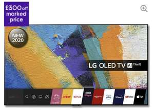 """LG OLED65GX6LA 65"""" Smart 4K Ultra HD HDR OLED TV also possible 6% TopCashback £1999 with code @ Currys"""