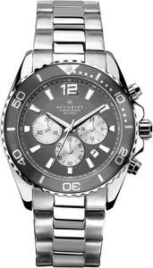 Accurist Mens Stainless Steel Japanese Quartz Sports Chronograph Watch With Push Button Safety Clasp - £68.89 @ Amazon