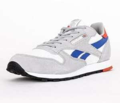 Junior Reebok Classic White/Grey/Cobalt/Red Leather Trainers size 3 - 3.5 £11.98 delivered @ bigbrandoutlet2015 / ebay