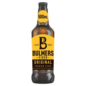 Bulmers Original Cider 500ml for £1 (+ Delivery Charge / Minimum Spend Applies) at Sainsburys