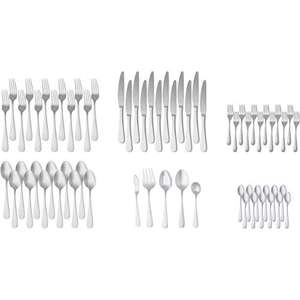 Amazon Basics 65-Piece Stainless Steel Flatware Set with Round Edge, Service for 12 £27.86 delivered at Amazon